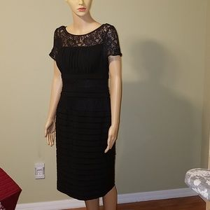 Adrianna Papell black dress size 10